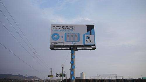 Lima billboard is tapped for drinking water