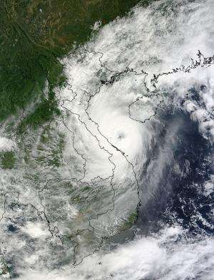 NASA image sees eye in deadly Typhoon Wutip on landfall approach