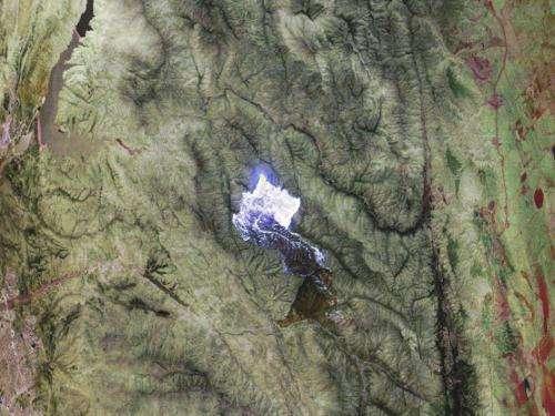 NASA MASTER infrared view of the Powerhouse Fire, California