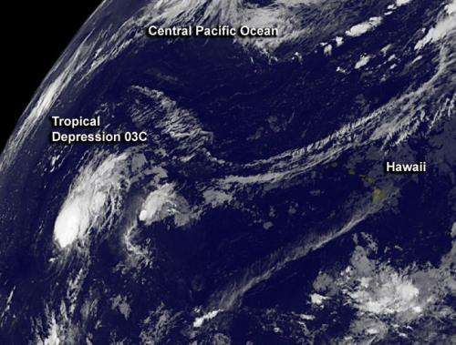 NASA sees another new Central Pacific tropical cyclone
