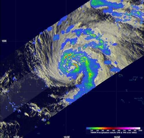 NASA sees hint of Typhoon Lekima's rapidly intensification
