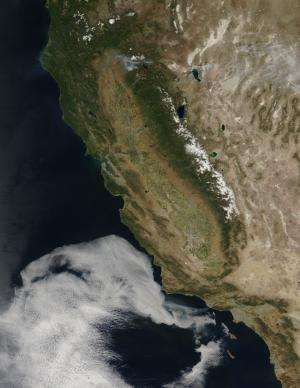 NASA sees Springs Fire rage Near Malibu, Calif.