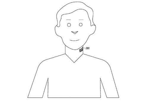Neck tattoo patent filing from Motorola targets improved sound
