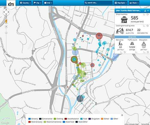 New open-source online maps provide details of urban supply chains