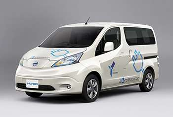 Nissan to introduce the 100% electric commercial vehicle 'e-NV200' in Japan during FY2014