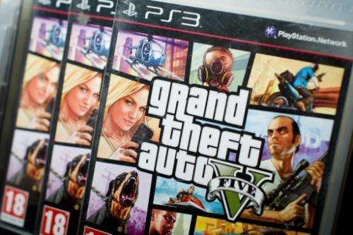 Packaging of the console game 'Grand Theft Auto 5'