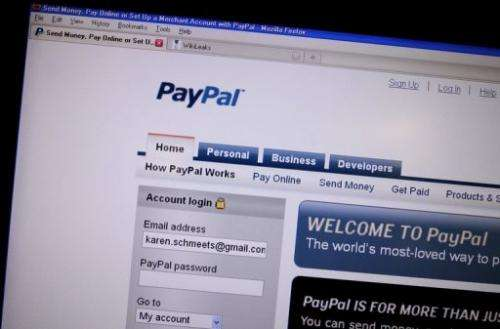 PayPal is the online payments arm of US Internet retail giant eBay