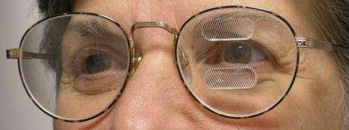 Peripheral prism glasses help hemianopia patients get around