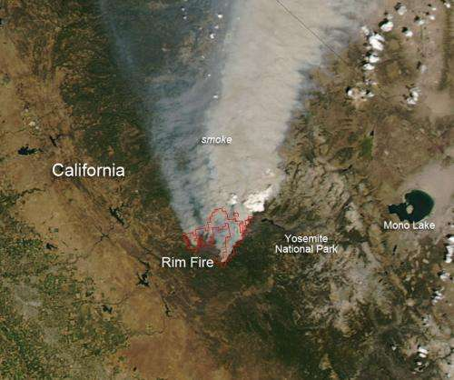 Rim Fire in California