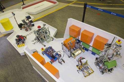 Robot challenge: Unload a spacecraft