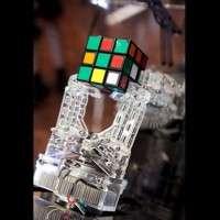 Rubik's Cube solving robot at Scienceworks