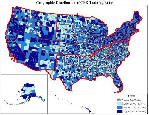 Rural and southern regions lack annual training in CPR