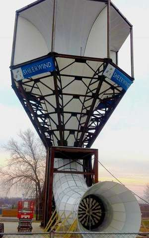 SheerWind claims its INVELOX wind turbine produces 600% more power