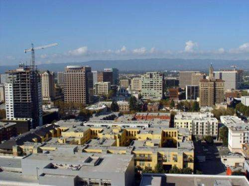 Silicon Valley's capital city San Jose, California, is seen pictured on October 2, 2007