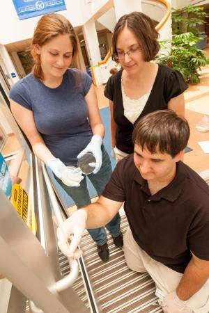 Silver coating kills bacteria on campus door handles