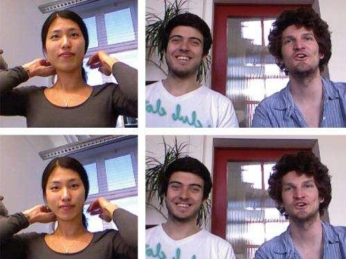 Skype eye contact finally possible