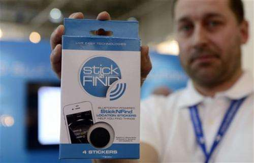 Smart 'stickers' let you find things by phone