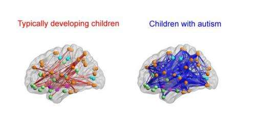 Social symptoms in autistic children may be caused by hyper-connected neurons