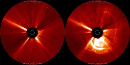 Solar eruption could help Earth prepare for technology melt-down