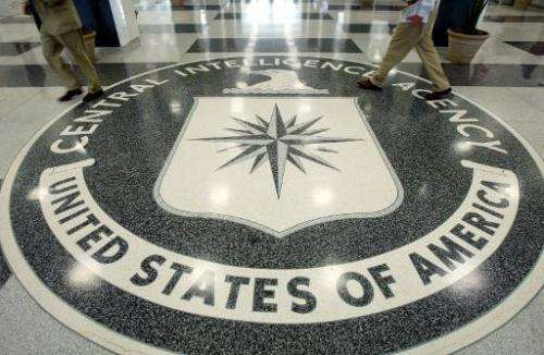 The CIA symbol is shown on the floor of its headquarters, July 9, 2004, in Langley, Virginia