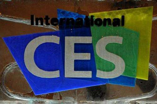 The logo for the International Consumer Electronics Show being held in Las Vegas, Nevada, is pictured on January 6, 2013