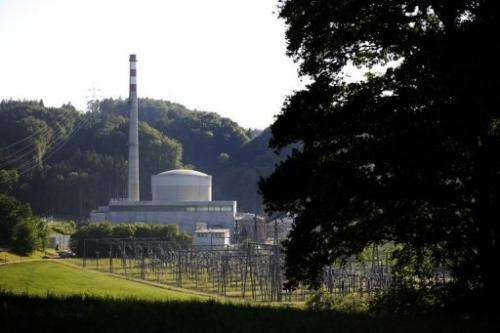 The Muehleberg nuclear power plant in Switzerland, on May 25, 2011