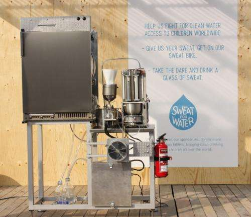 The worlds first sweat machine produces clean water for children