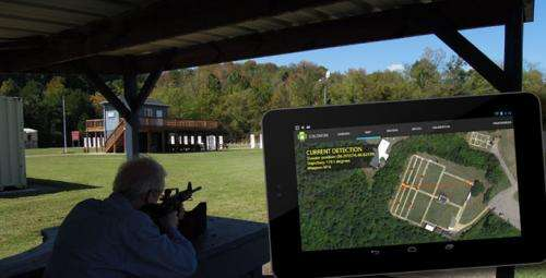 Tracking gunfire with a smartphone