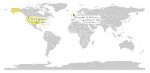 Realtime map shows Wikipedia changes worldwide