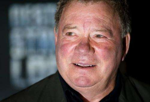 "US actor William Shatner who starred as Captain Kirk in ""Star Trek: Enterprise"", is pictured on October 19, 2012"