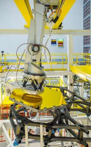 Webb Telescope Crew Flexes Robotic Arm at NASA