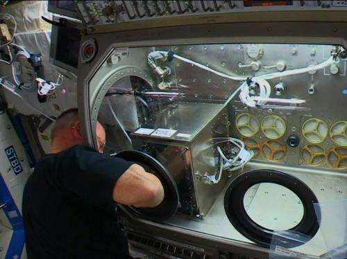 3-D printer powered up on the International Space Station