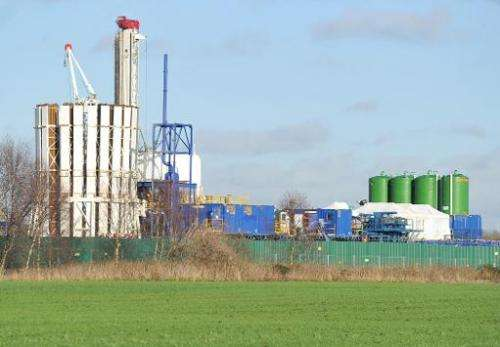 A general view of a site where energy company IGas has permission to carry out exploratory drilling for shale gas at Barton Moss