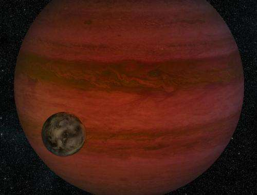 Artist's conception: Exomoon around gas giant Exoplanet