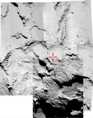 European probe plants thermometer on comet