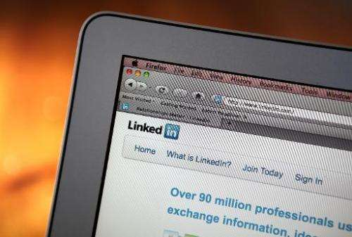 In this photo illustration, the LinkedIn logo is displayed on the screen of a laptop computer on January 27, 2011 in San Anselmo