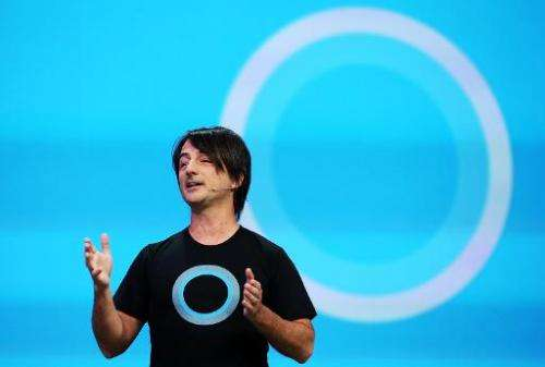 Joe Belfiore, corporate vice president and manager for Windows Phone, announces Cortana, a new digital personal assistant functi