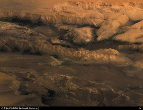 Lava, not water, formed canyons on Mars