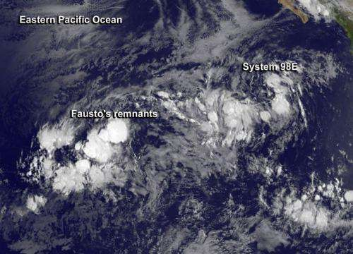 NASA, NOAA satellites help confirm Tropical Storm Fausto as a remnant low