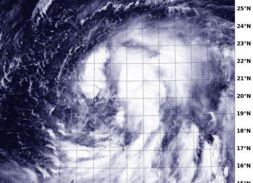 NASA-NOAA's Suomi NPP satellite sees Tropical Storm Kammuri coming together