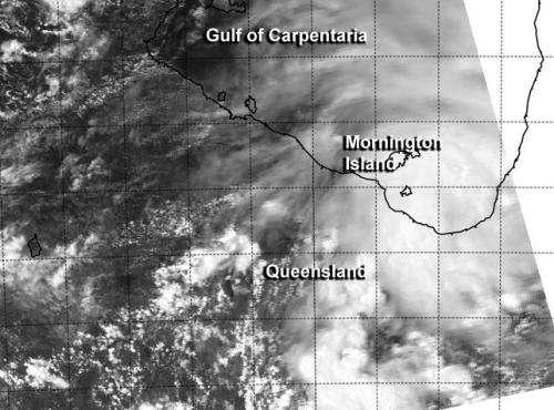 NASA's Aqua satellite tracking System 94P or 'Fletcher' near Queensland