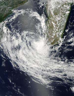NASA satellite catches birth of Tropical Cyclone Deliwe
