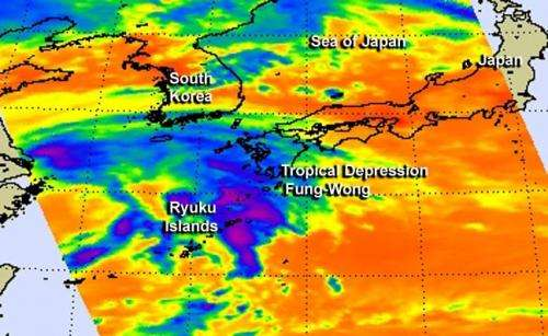 NASA sees the end of post-depression Fung-Wong