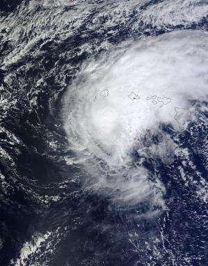 NASA's Terra Satellite sees Tropical Storm Ana over Hawaii