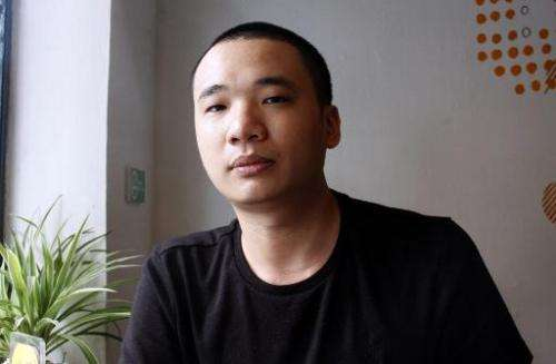 Nguyen Ha Dong, the author of the game Flappy Bird in Hanoi, on February 5, 2014