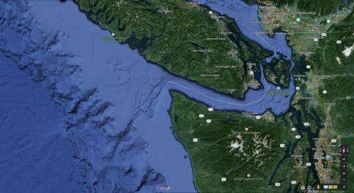 Puget Sound's rich waters supplied by deep, turbulent canyon