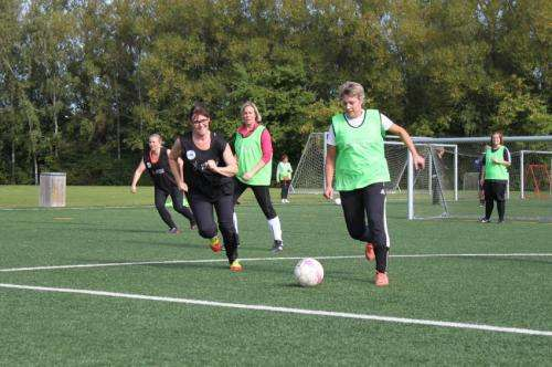 Recreational football reduces high blood pressure in mature women