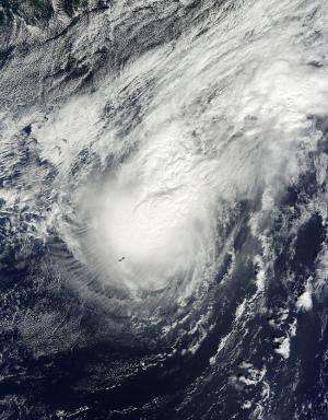 Satellites confirm Fay weakened to a Tropical Storm