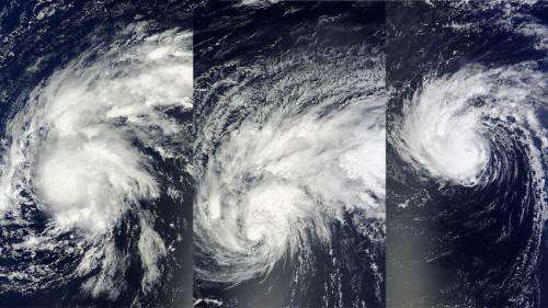 Satellites show Edouard's transition into an Atlantic Hurricane