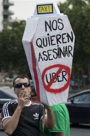 Spanish judge orders temporary shutdown of Uber